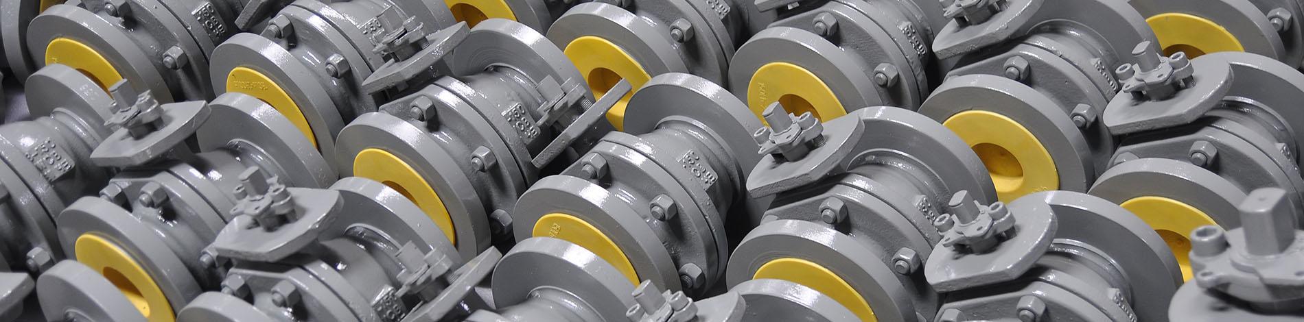 Stahlguss Kugelhähne mit ISO TOP Aufbauflansch